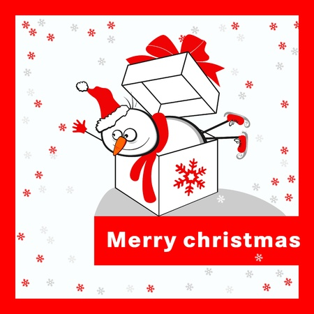 Merry christmas card Stock Vector - 16761929