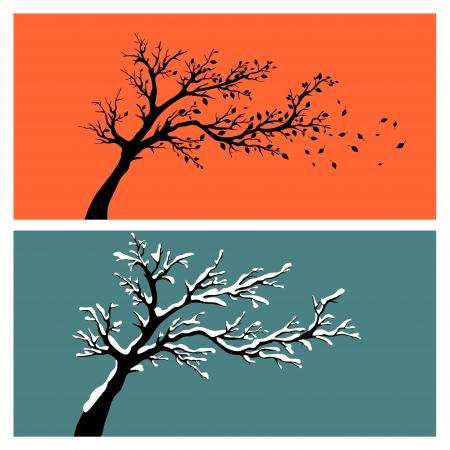 Tree silhouette Stock Vector - 17186413