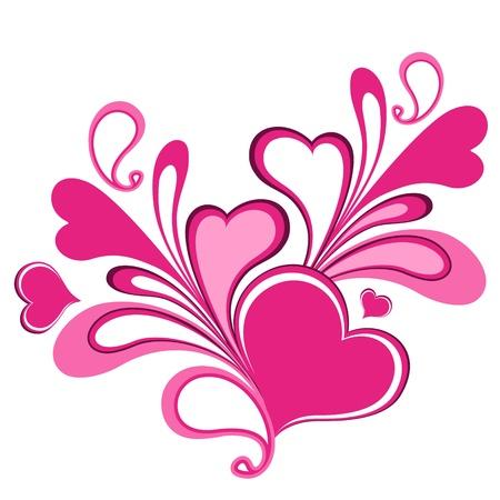Valentine hearts  Illustration