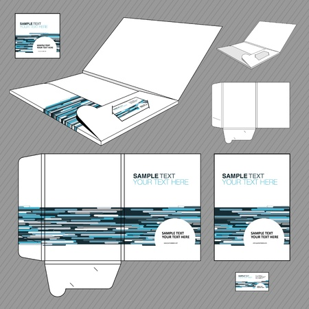 Folder design template   Vector