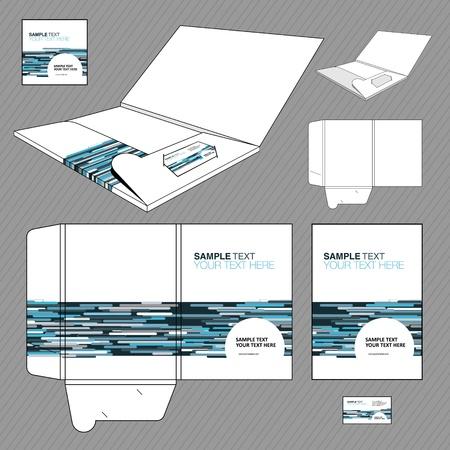 personalausweis: Ordner-Design-Vorlage Illustration