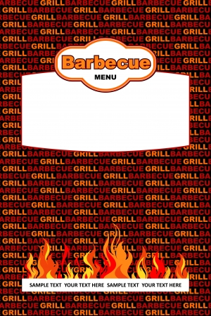 Barbecue menu design Stock Vector - 19787804