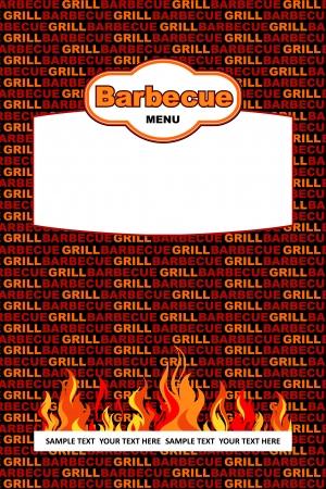 Barbecue menu design Stock Vector - 19787804