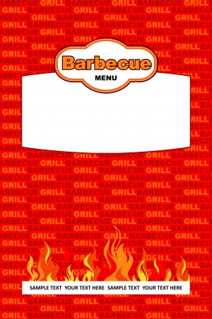 Barbecue menu background design Stock Vector - 19645128