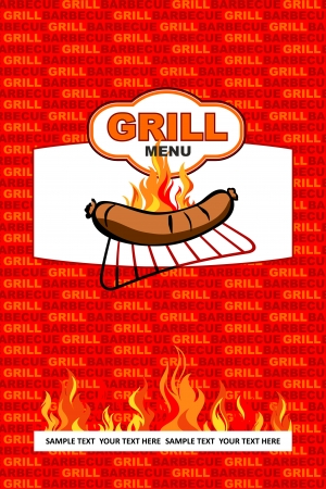 Grill menu design Vector