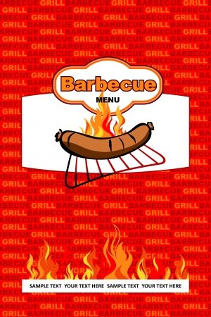 Barbecue menu design  Stock Vector - 17186205