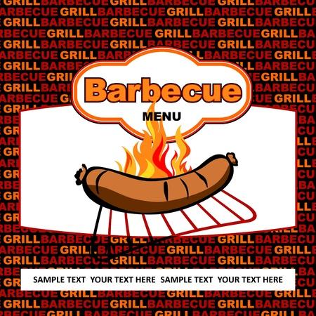 Barbecue label design  Stock Vector - 17186200