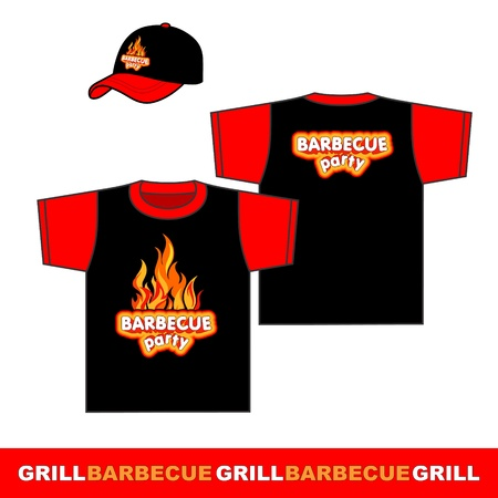 Barbecue party shirt design  Vector