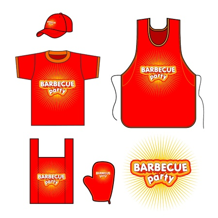 Barbecuel set design  Vector