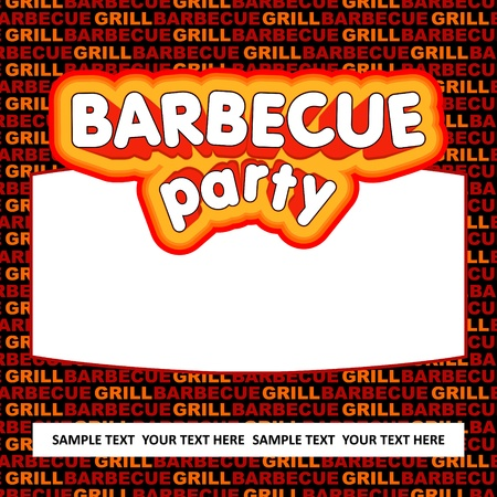 Barbecue party background  Vector