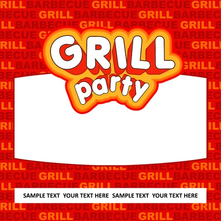 Grill party background  Stock Vector - 17186002