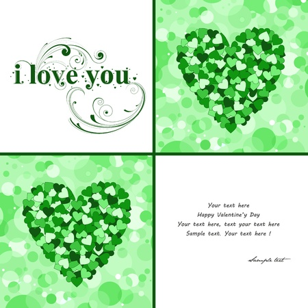 beautifu: Valentines day card Illustration