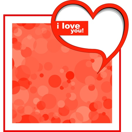 I love you card background design Vector