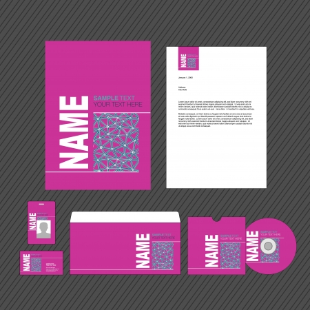 Business identity template vector illustration Stock Vector - 17751156