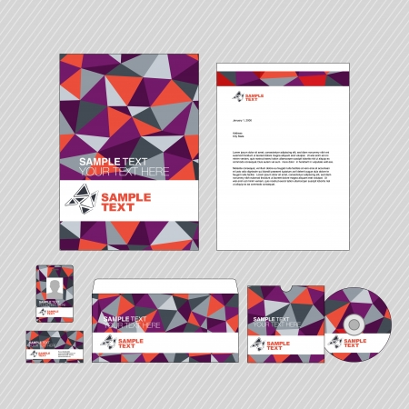Business identity template set Stock Vector - 17753233