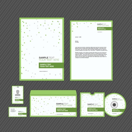 Business identity template set Stock Vector - 17753234