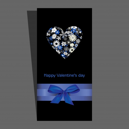 Valentine day love beautiful card Vector