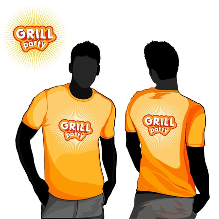 Grill party t-shirt design  Vector