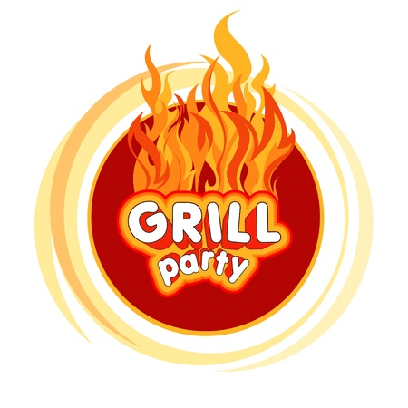 bonfire: Grill party background design