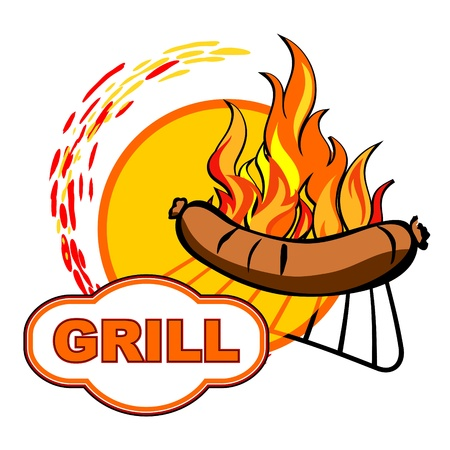 Grill sticker background design Stock Vector - 20978421