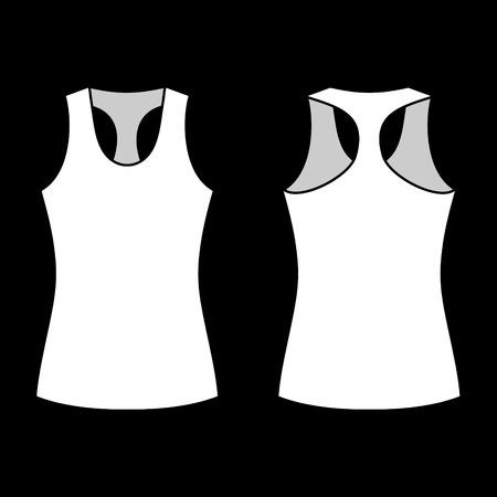 athletic wear: woman shirt template  Illustration