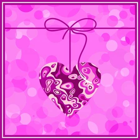 valentine s day: Valentine s day background with hearts Illustration