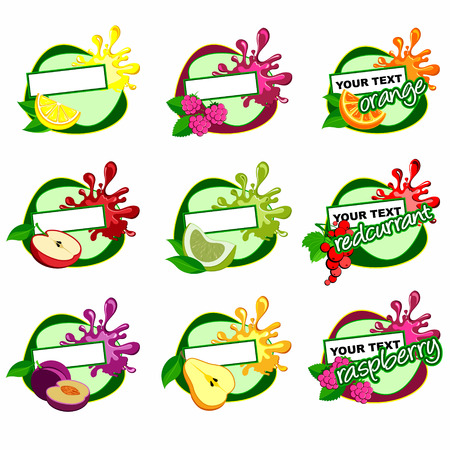 fruits label Vector
