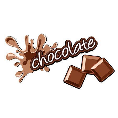 chocolate label Vector