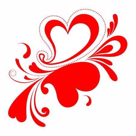 valentijn hart: Valentine hart  Stock Illustratie