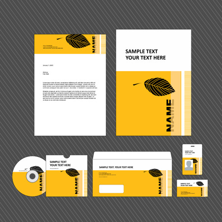 headed: Business identity template
