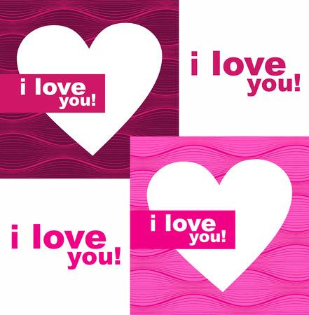 Valentines day hearts  Illustration