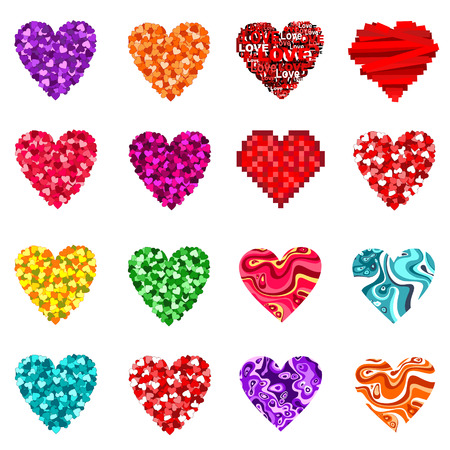 Valentines hearts set