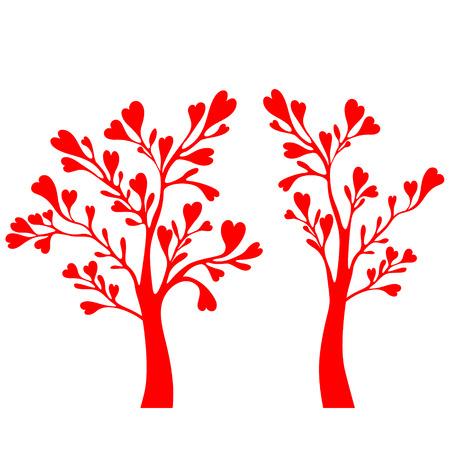 esp cards: Valentine tree
