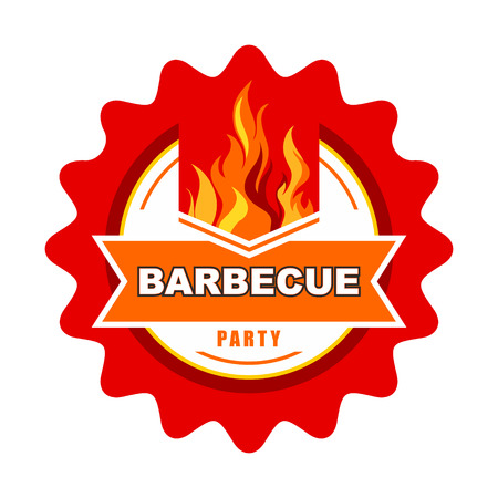 Barbecue label design  Vector