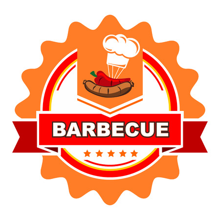 Barbecue label design  Vector