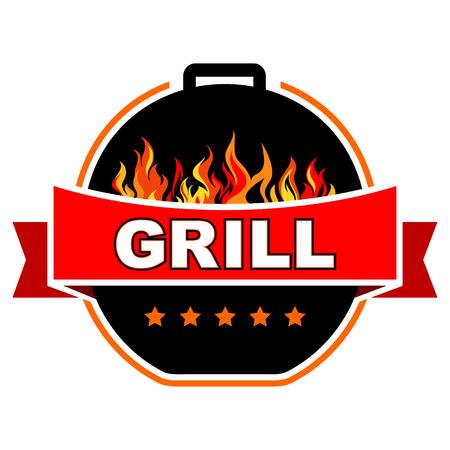 Grill label design
