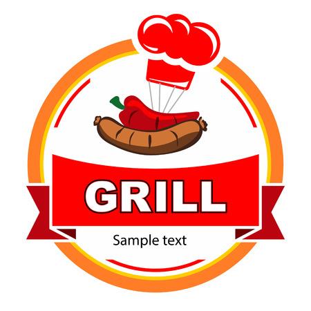 Vector grill label design  Vector