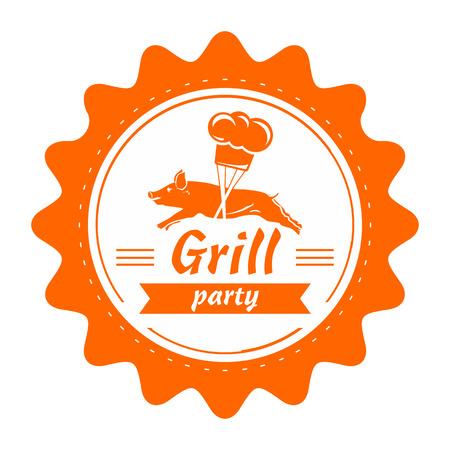 Grill vintage stamp  Vector