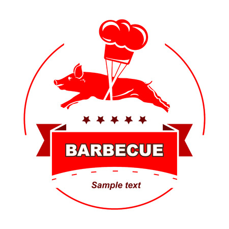 Barbecue vintage stamp  Vector