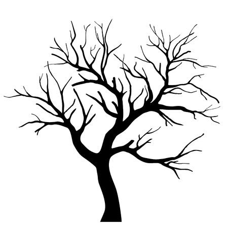 Silhouette d'arbre Banque d'images - 27505543