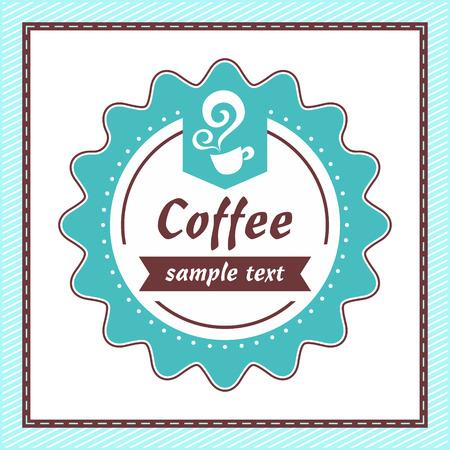 Coffee vintage label  Vector