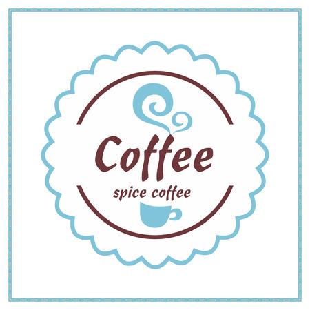 vanilla pudding: Etiqueta de caf� de la vendimia