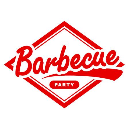 Vintage barbecue label design  Vector