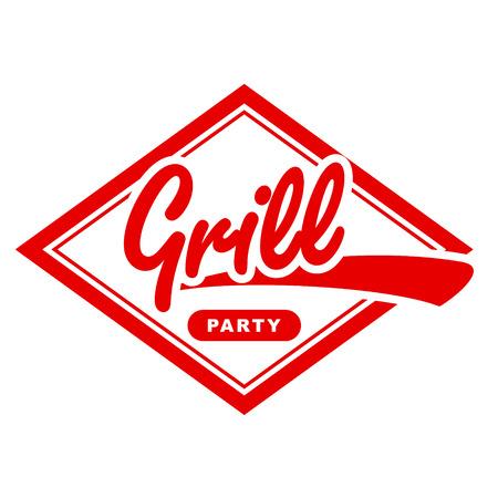 Vintage grill label design  Vector