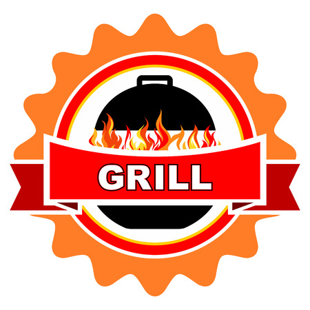 Vintage grill label design  Vector