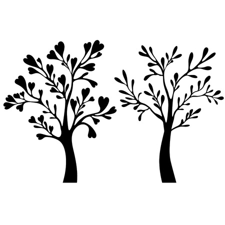 bareness: Trees silhouettes