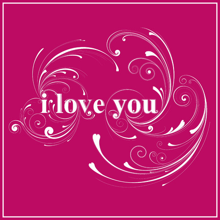 esp card: Pink I love you sign