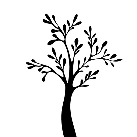 deciduous: Vector tree silhouette Illustration