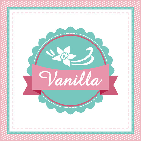 vanilla pudding: Etiqueta de vainilla. Vectores