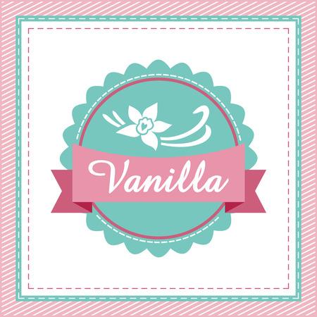 Vanilla label. Vector
